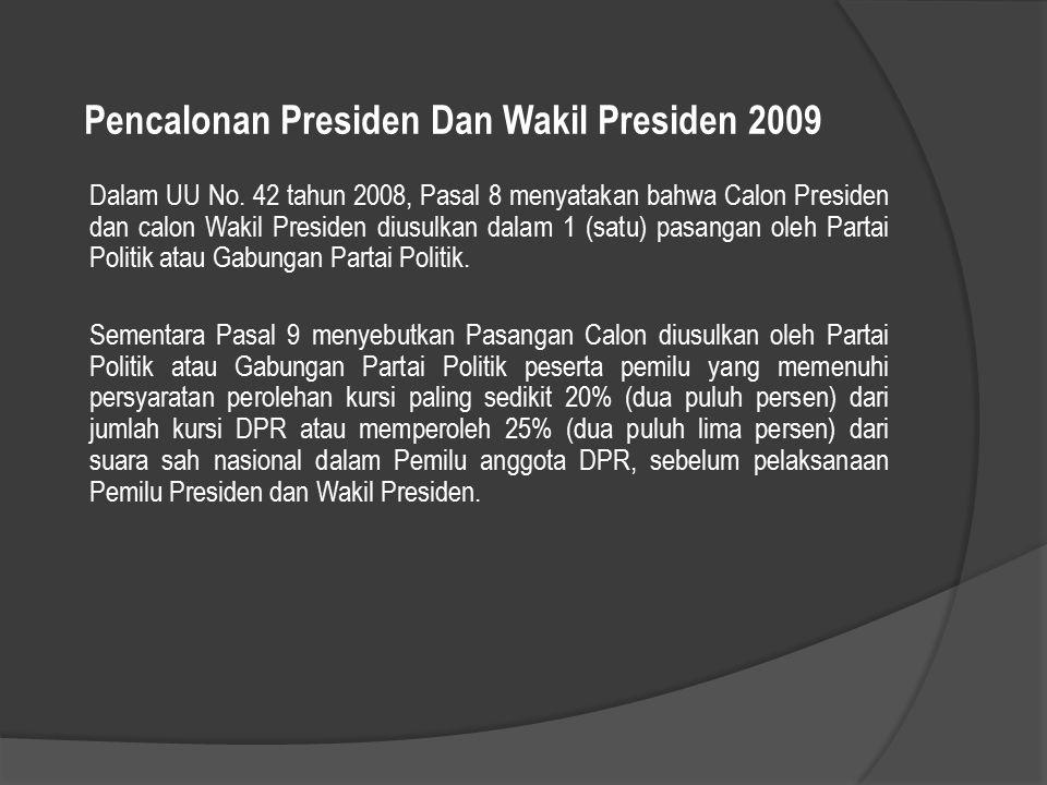 Pencalonan Presiden Dan Wakil Presiden 2009