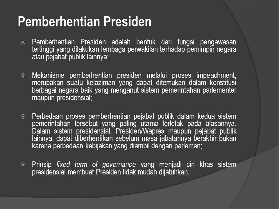 Pemberhentian Presiden