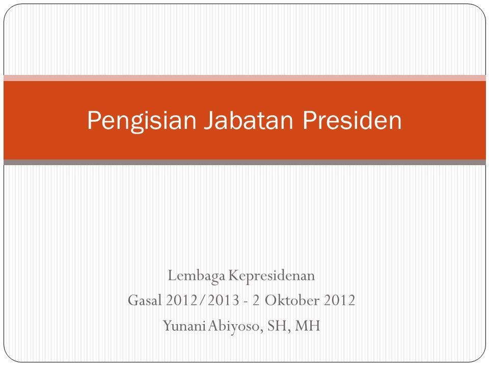 Pengisian Jabatan Presiden