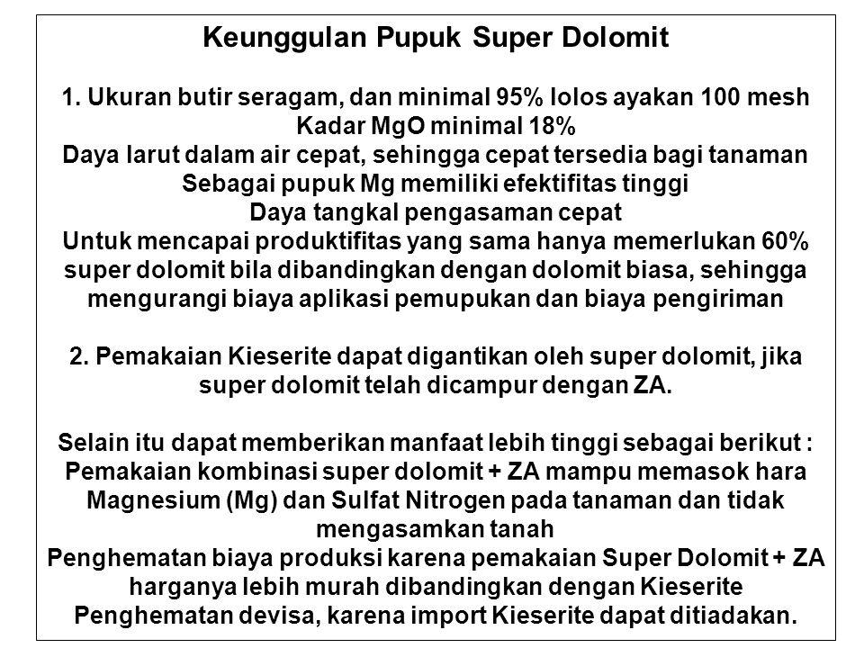 Keunggulan Pupuk Super Dolomit