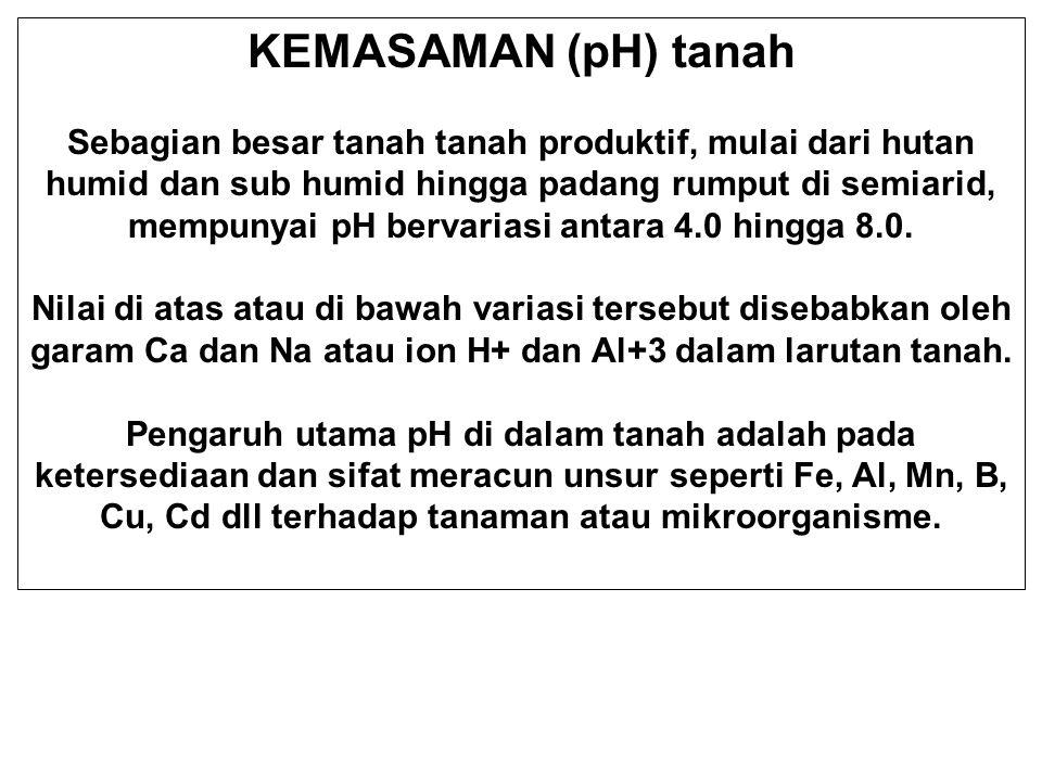 KEMASAMAN (pH) tanah