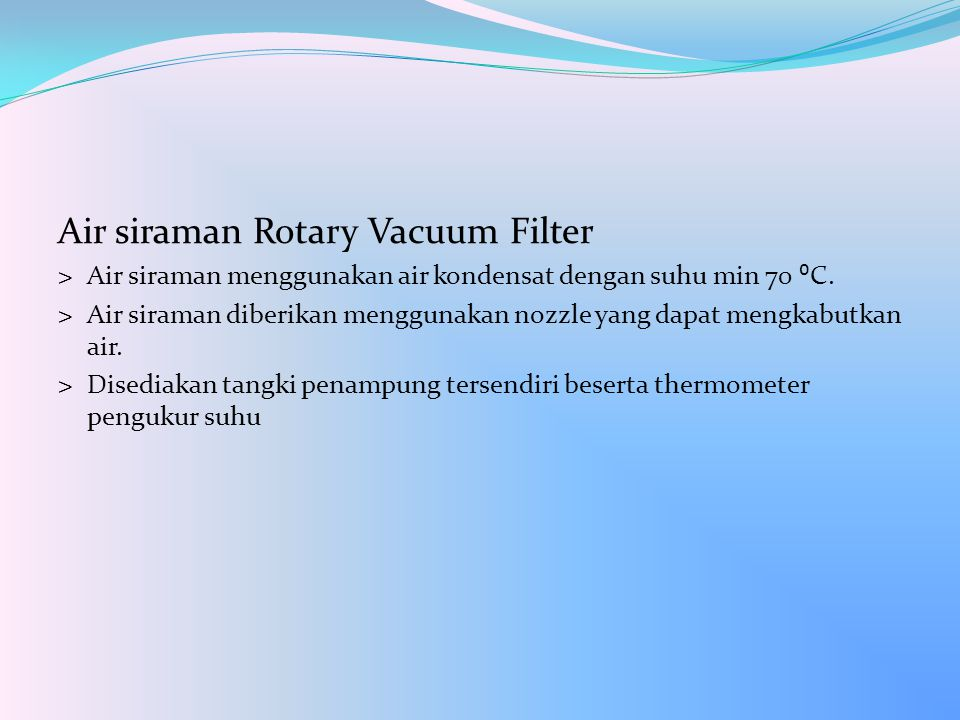 Air siraman Rotary Vacuum Filter
