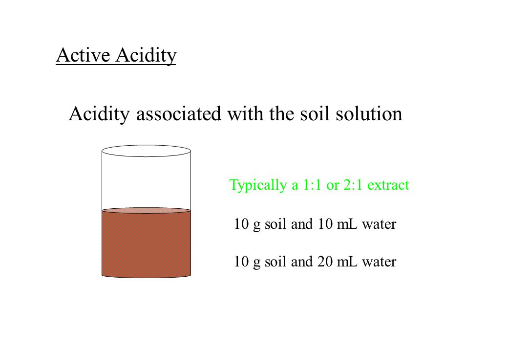 Acidity associated with the soil solution