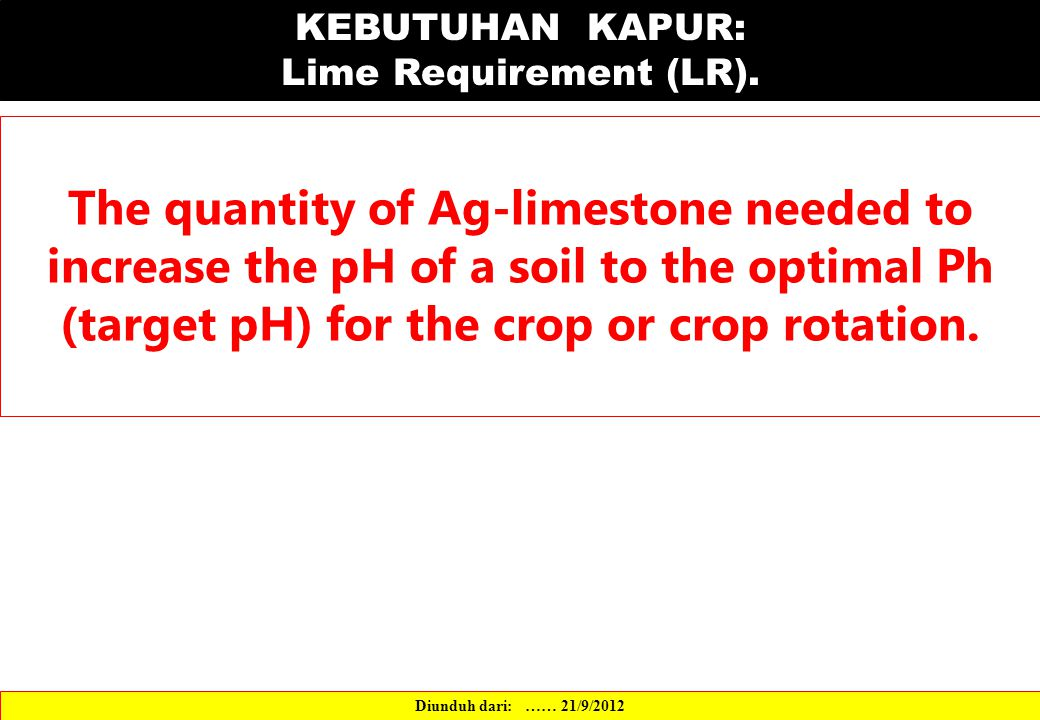 The quantity of Ag-limestone needed to