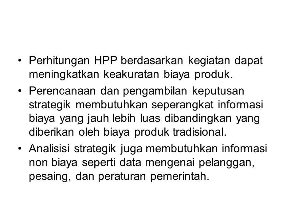 Perhitungan HPP berdasarkan kegiatan dapat meningkatkan keakuratan biaya produk.