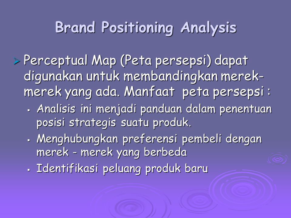 Brand Positioning Analysis