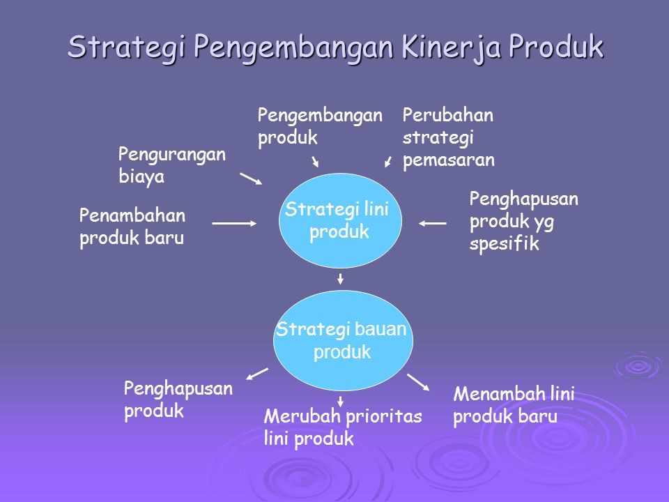 Strategi Pengembangan Kinerja Produk