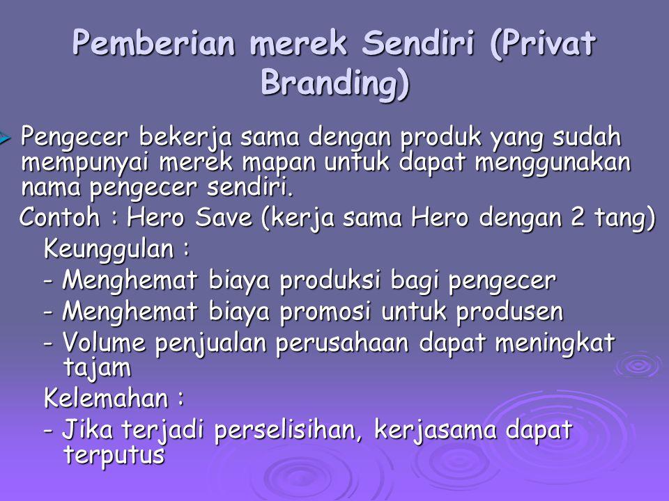 Pemberian merek Sendiri (Privat Branding)