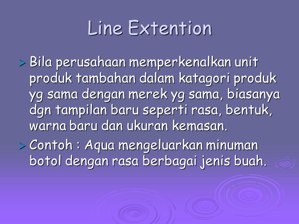 Line Extention