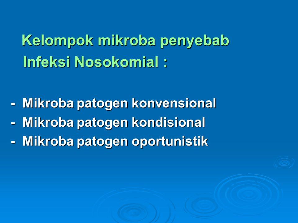 Infeksi Nosokomial : Kelompok mikroba penyebab