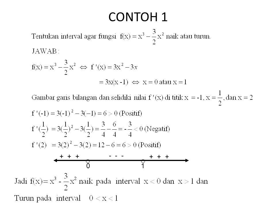 CONTOH 1 + + + - - - + + + 1
