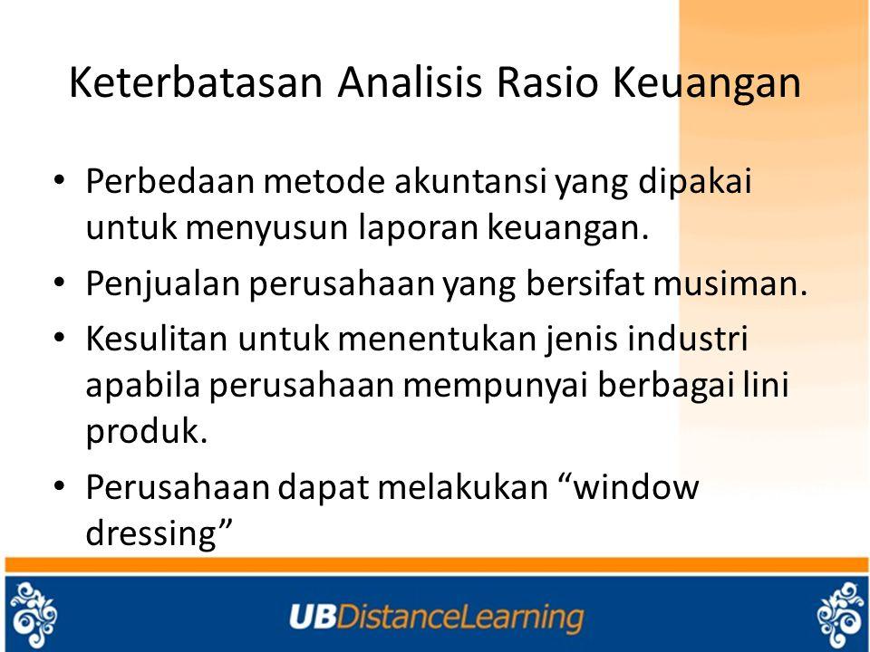 Keterbatasan Analisis Rasio Keuangan