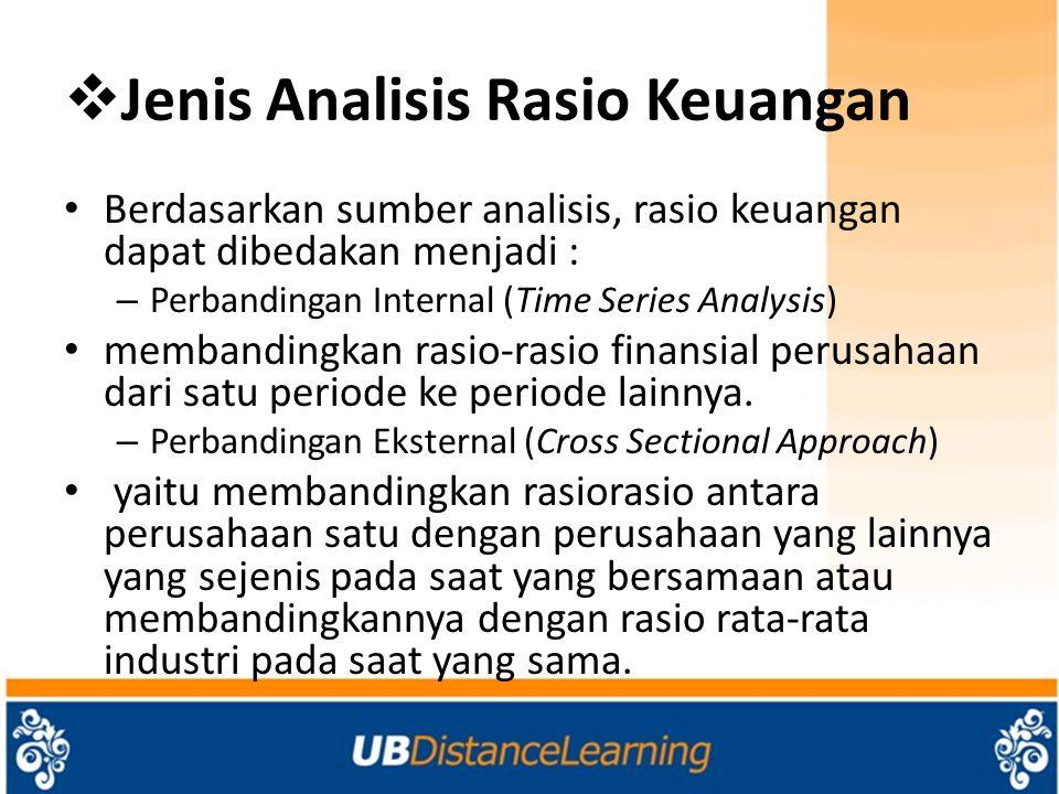 Jenis Analisis Rasio Keuangan
