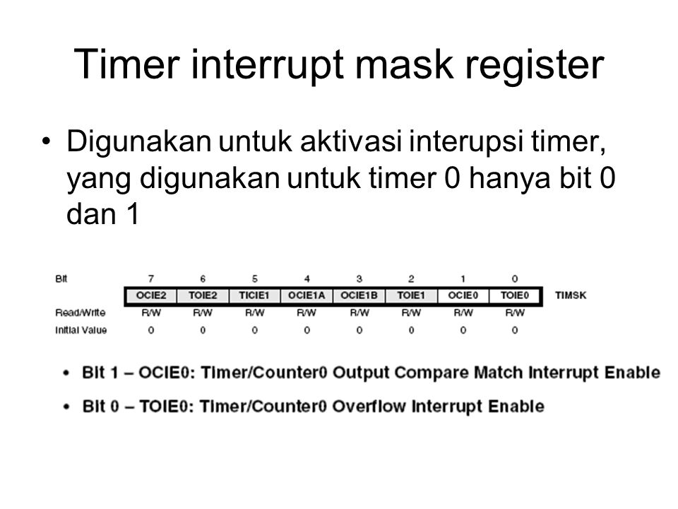 Timer interrupt mask register