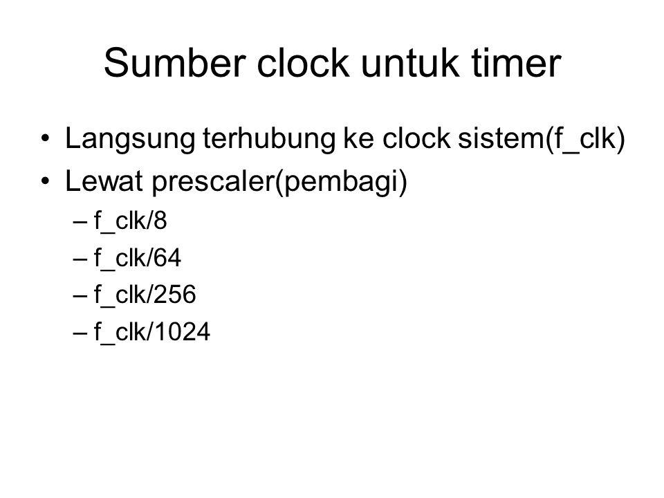 Sumber clock untuk timer