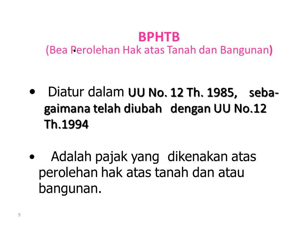 BPHTB (Bea Perolehan Hak atas Tanah dan Bangunan)