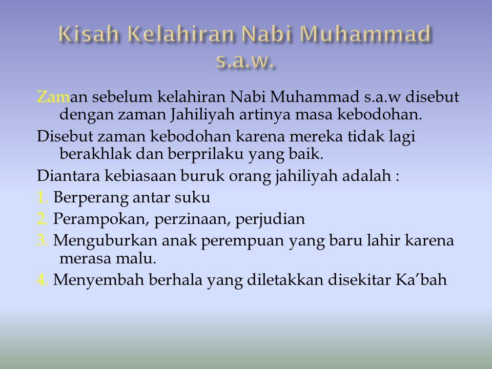Kisah Kelahiran Nabi Muhammad s.a.w.