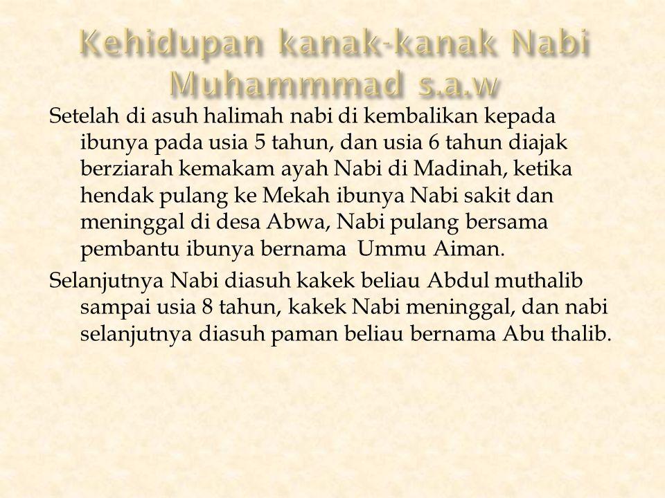 Kehidupan kanak-kanak Nabi Muhammmad s.a.w