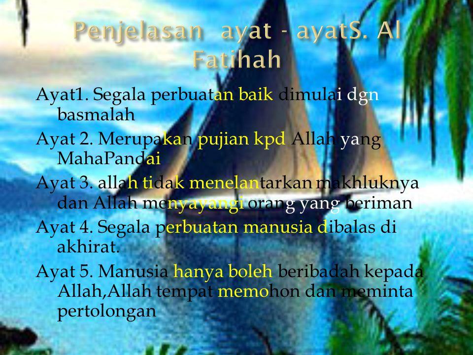 Penjelasan ayat - ayatS. Al Fatihah