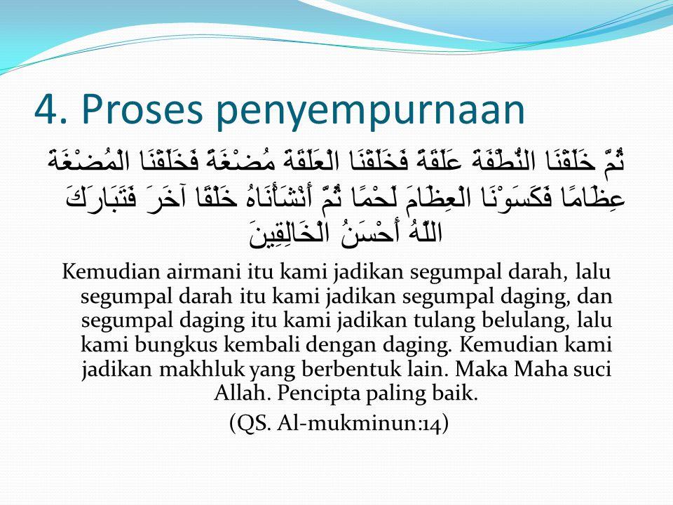 4. Proses penyempurnaan