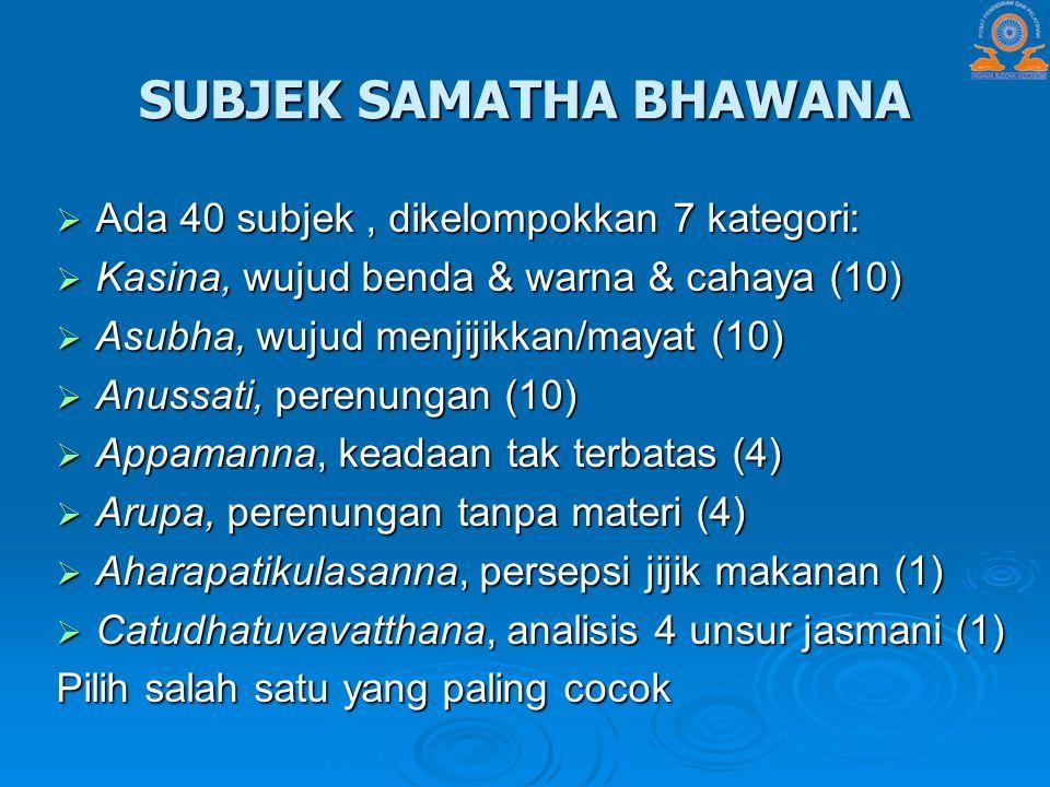 SUBJEK SAMATHA BHAWANA