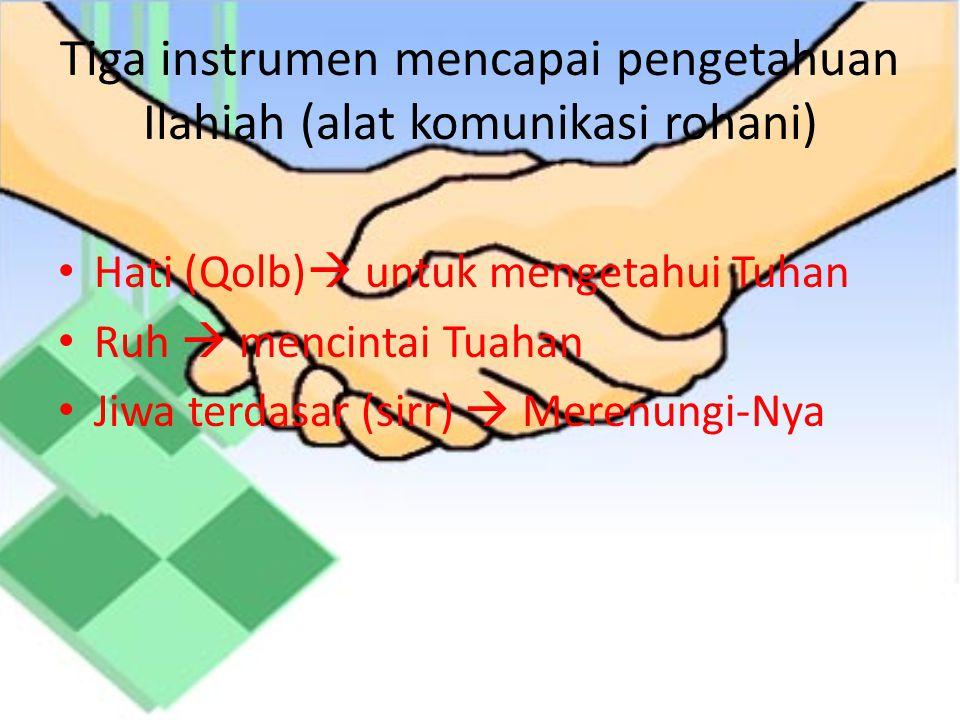 Tiga instrumen mencapai pengetahuan Ilahiah (alat komunikasi rohani)