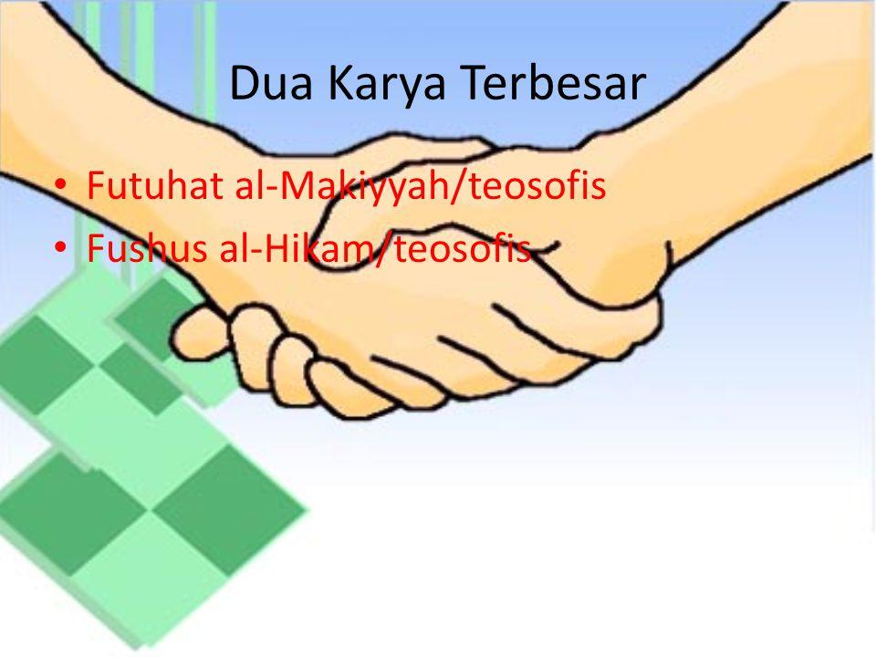 Dua Karya Terbesar Futuhat al-Makiyyah/teosofis
