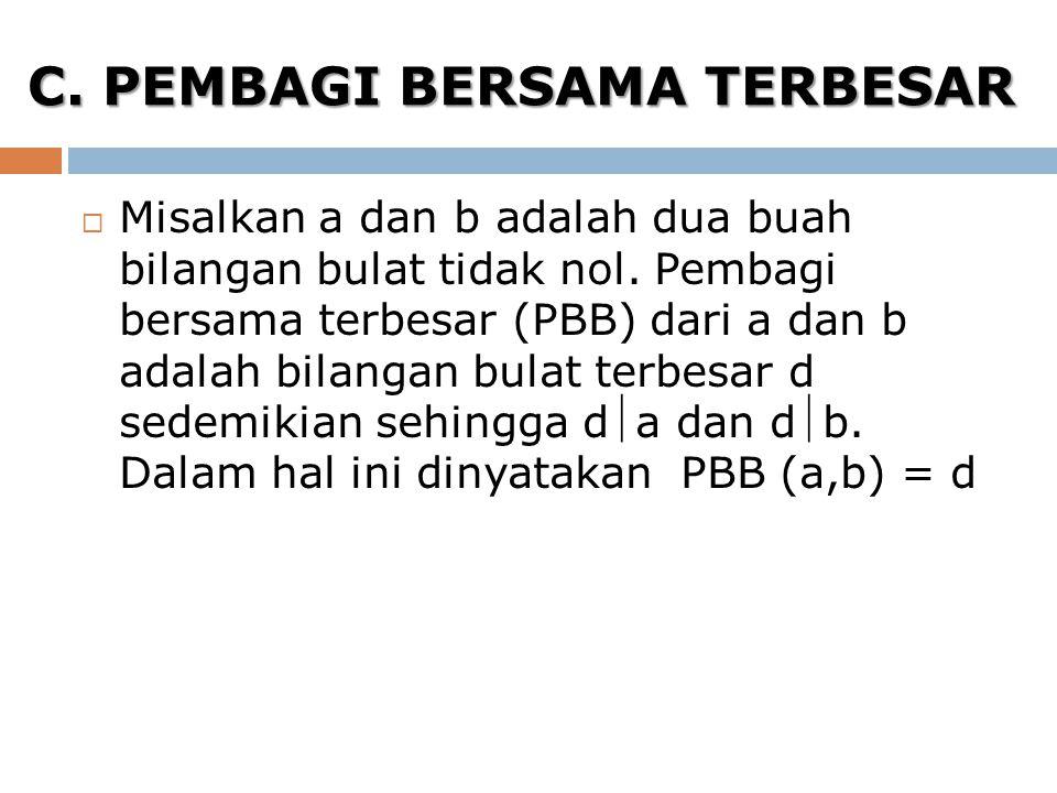C. PEMBAGI BERSAMA TERBESAR