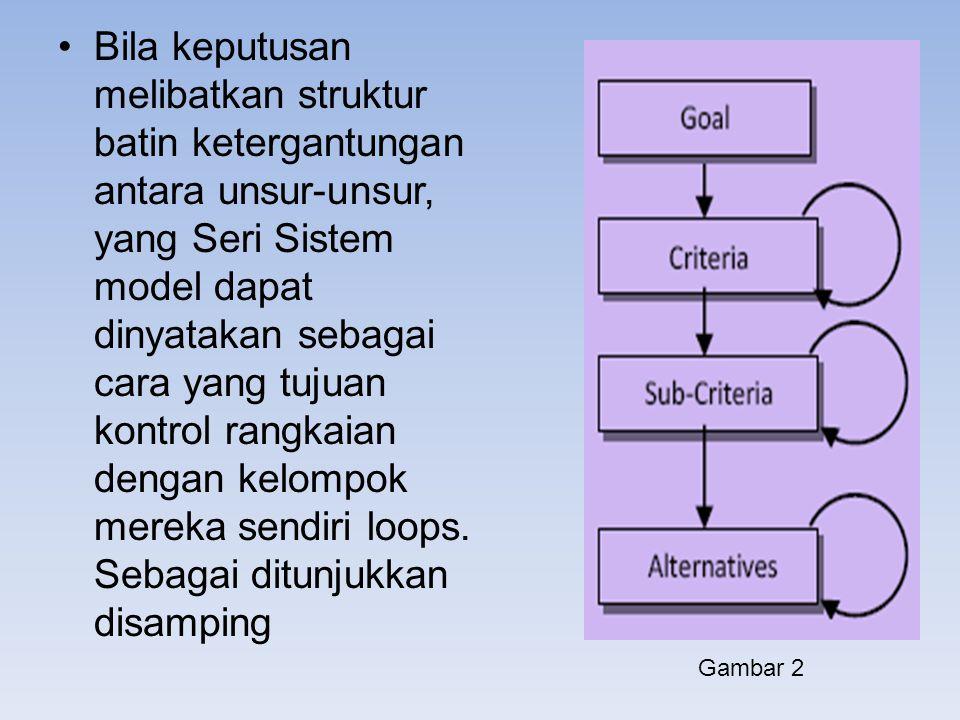 Bila keputusan melibatkan struktur batin ketergantungan antara unsur-unsur, yang Seri Sistem model dapat dinyatakan sebagai cara yang tujuan kontrol rangkaian dengan kelompok mereka sendiri loops. Sebagai ditunjukkan disamping