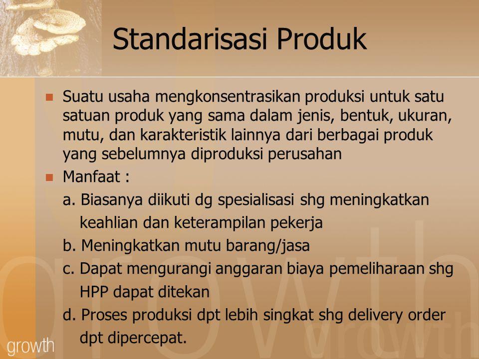 Standarisasi Produk