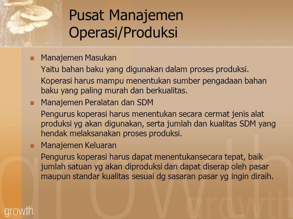 Pusat Manajemen Operasi/Produksi