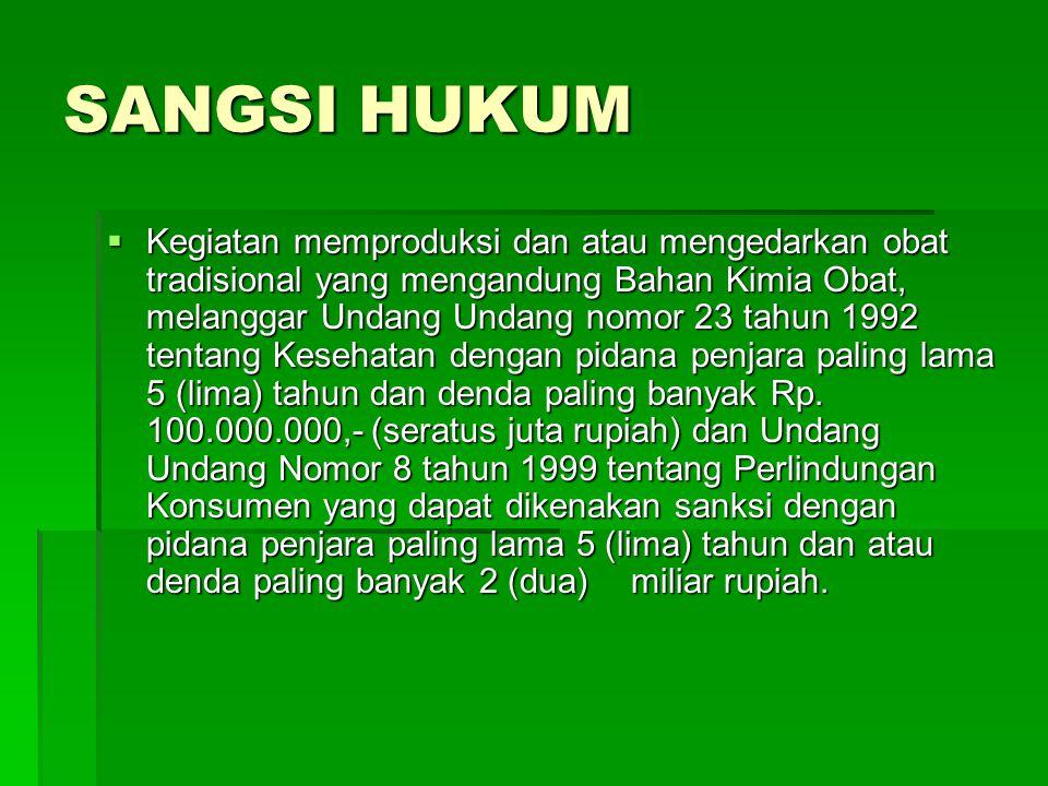 SANGSI HUKUM