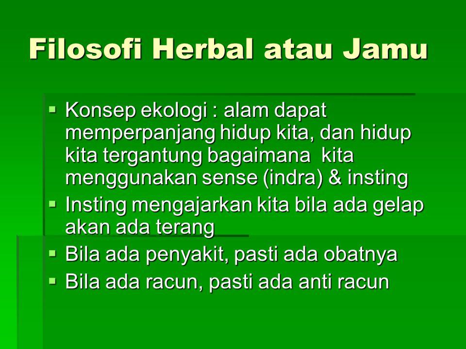 Filosofi Herbal atau Jamu