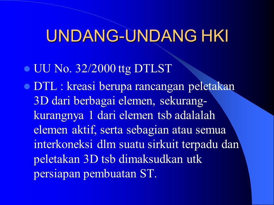 UNDANG-UNDANG HKI UU No. 32/2000 ttg DTLST