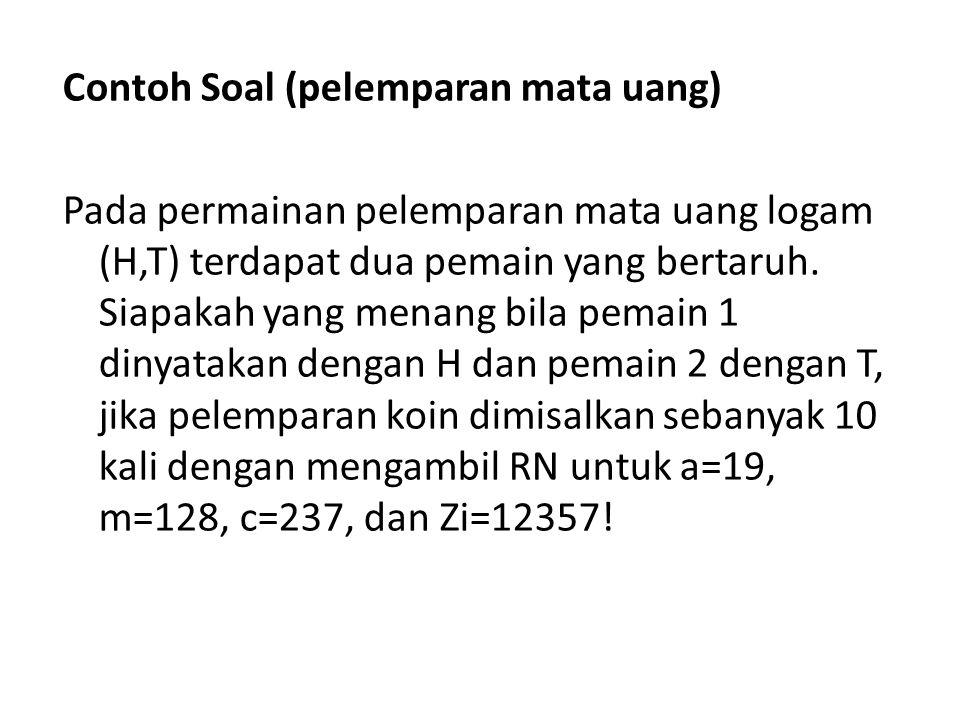 Contoh Soal (pelemparan mata uang)