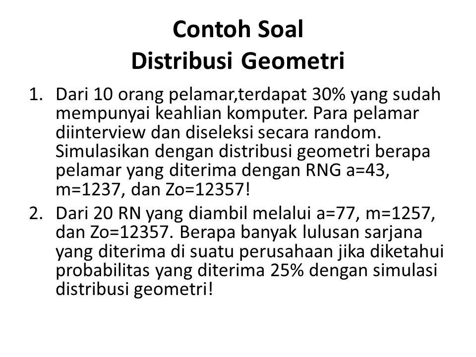 Contoh Soal Distribusi Geometri