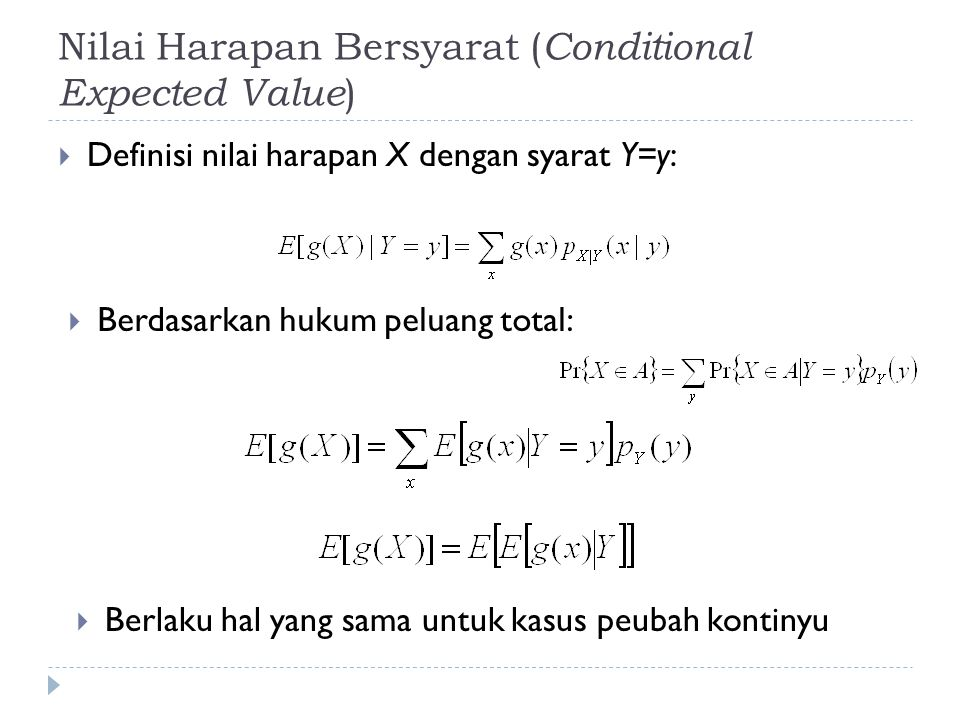 Nilai Harapan Bersyarat (Conditional Expected Value)