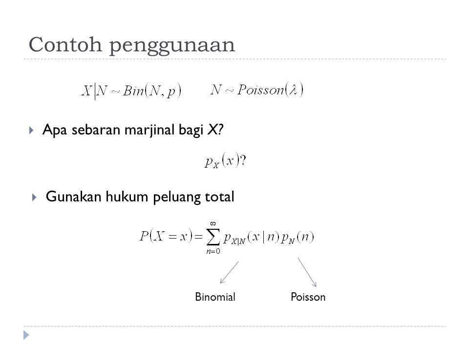 Contoh penggunaan Apa sebaran marjinal bagi X