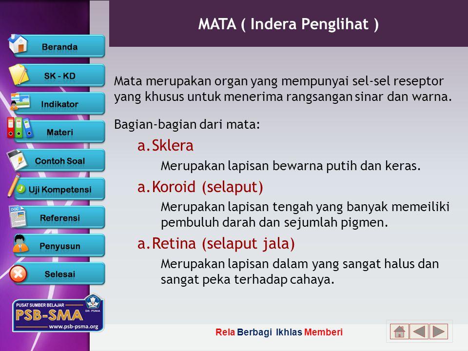 MATA ( Indera Penglihat )