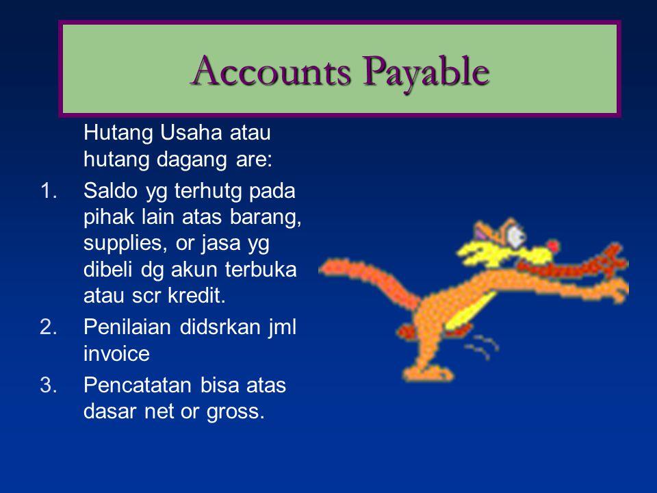 Notes Payable Wesel bayar bisa berbunga atau tanpa bunga.