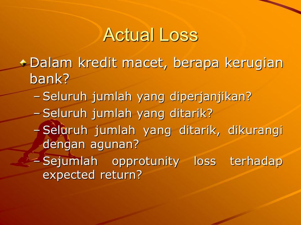 Actual Loss Dalam kredit macet, berapa kerugian bank