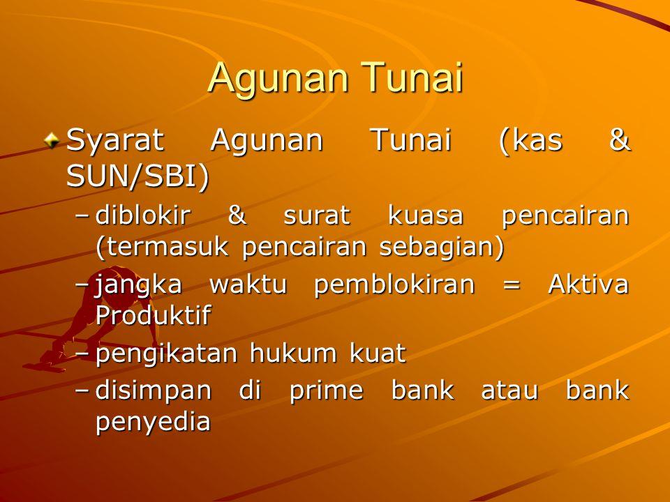 Agunan Tunai Syarat Agunan Tunai (kas & SUN/SBI)