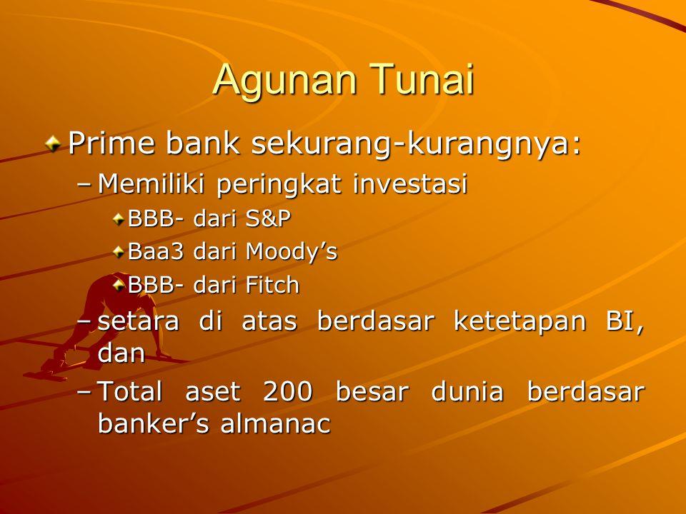 Agunan Tunai Prime bank sekurang-kurangnya: