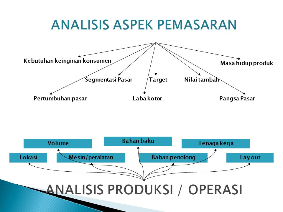 Analisis Aspek Pemasaran ANALISIS PRODUKSI / OPERASI