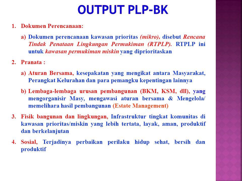 Output PLP-BK Dokumen Perencanaan: