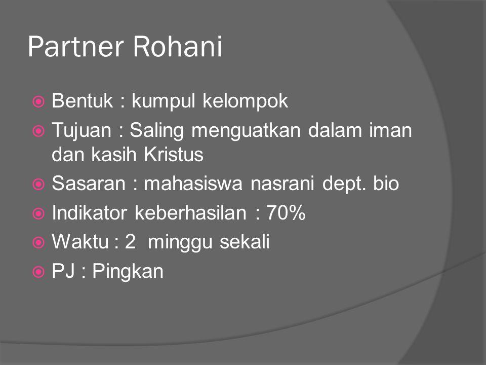 Partner Rohani Bentuk : kumpul kelompok