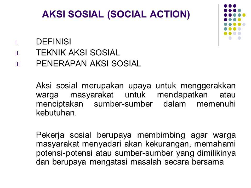 AKSI SOSIAL (SOCIAL ACTION)