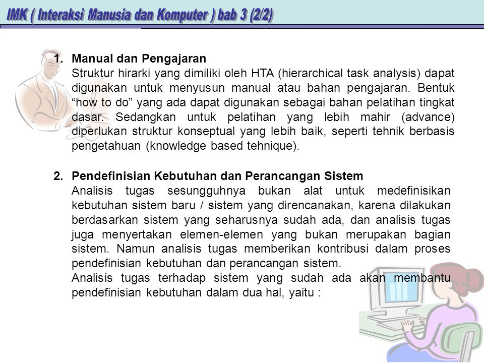Manual dan Pengajaran