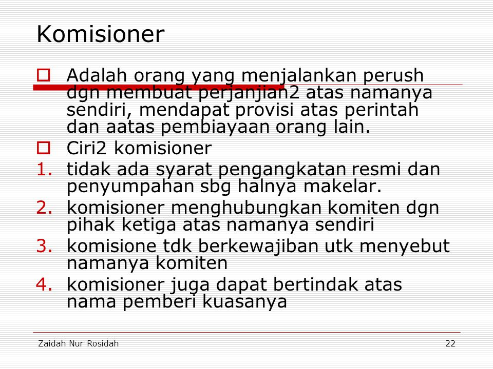 Komisioner
