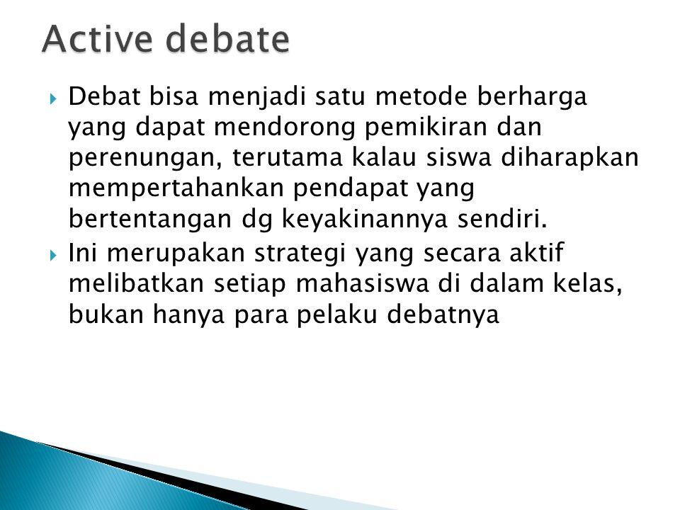 Active debate